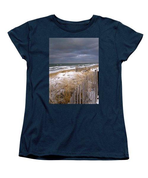 Winter On Cape Cod Women's T-Shirt (Standard Cut) by Charles Harden