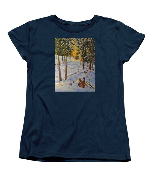Winter On The Lane Women's T-Shirt (Standard Cut) by David Gilmore