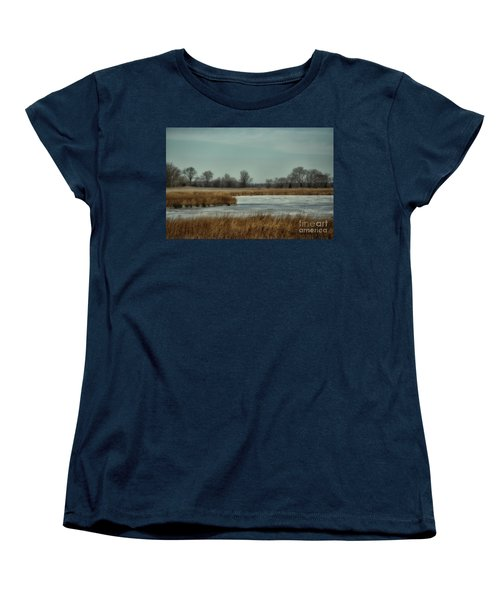 Women's T-Shirt (Standard Cut) featuring the photograph Winter On The Water by Tamera James