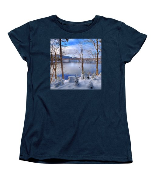 Winter On West Lake Women's T-Shirt (Standard Cut) by David Patterson