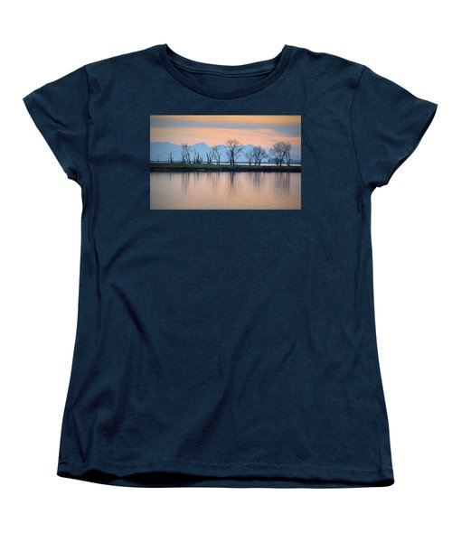 Winter Reflections Women's T-Shirt (Standard Cut) by AJ Schibig