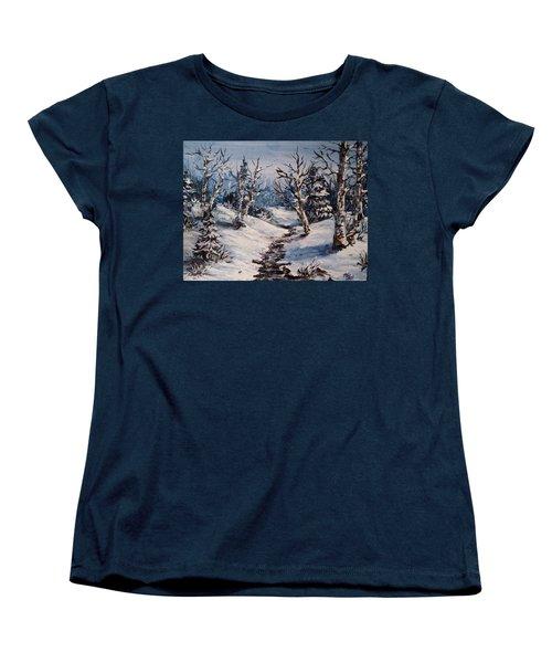 Winter Silence Women's T-Shirt (Standard Cut) by Megan Walsh