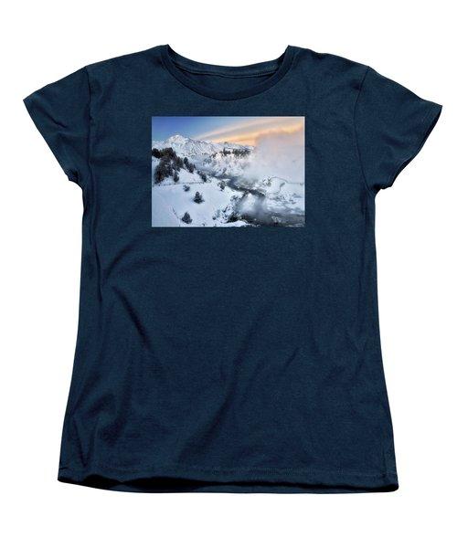 Winter Steam  Women's T-Shirt (Standard Cut) by Nicki Frates