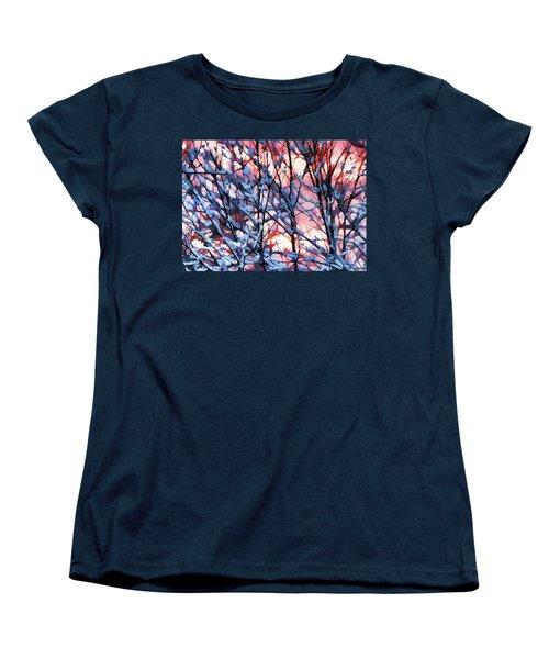 Winter Sunrise Women's T-Shirt (Standard Cut) by Betsy Zimmerli