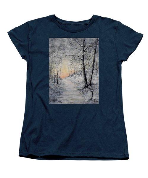 Winter Sunset Women's T-Shirt (Standard Cut) by Judy Kirouac