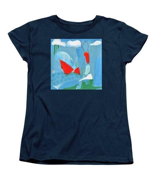 Winter Thunder Women's T-Shirt (Standard Cut) by Donna Blackhall