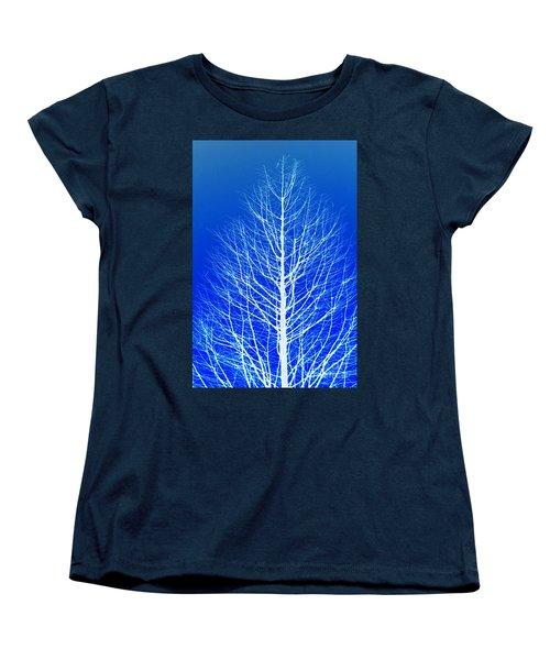 Winter Tree Women's T-Shirt (Standard Cut) by Donna Bentley