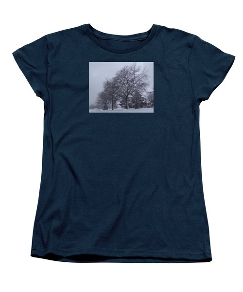Winter Trees In Sea Girt Women's T-Shirt (Standard Cut) by Melinda Saminski