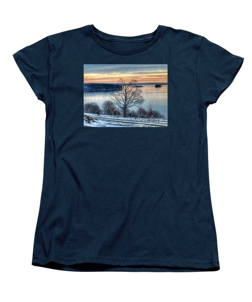 Winter Twilight At Fort Allen Park Women's T-Shirt (Standard Cut)