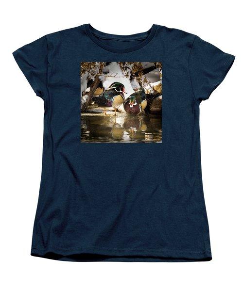 Winter Visitors - Wood Ducks Women's T-Shirt (Standard Cut)