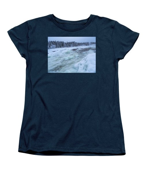 Winter Waterfall Women's T-Shirt (Standard Cut) by Tamara Sushko