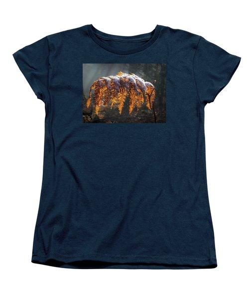 Winter Woods Women's T-Shirt (Standard Cut) by Shirley Mitchell