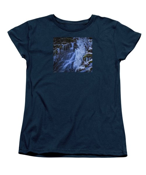 Winterfalls Women's T-Shirt (Standard Cut) by Mitch Shindelbower
