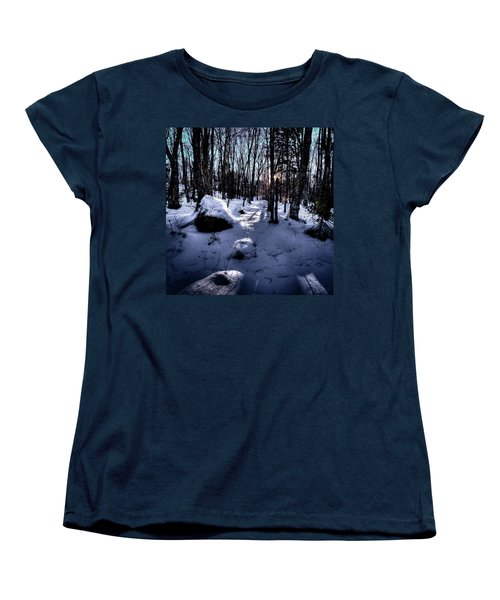 Women's T-Shirt (Standard Cut) featuring the photograph Winters Shadows by David Patterson