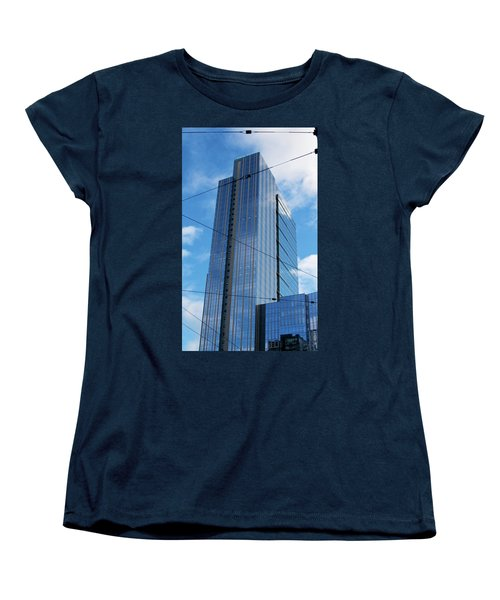 Wired In Seattle - Skyscraper Art Print Women's T-Shirt (Standard Cut) by Jane Eleanor Nicholas