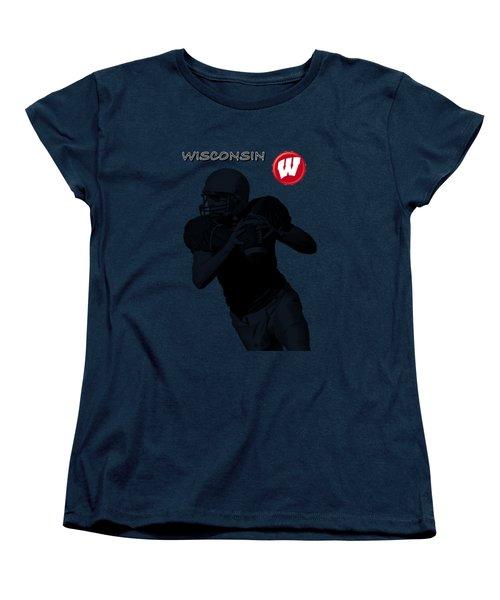 Wisconsin Football Women's T-Shirt (Standard Cut) by David Dehner