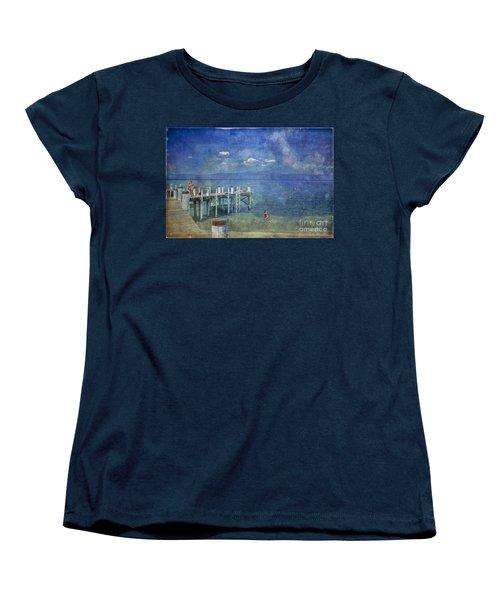 Women's T-Shirt (Standard Cut) featuring the photograph Wish You Were Here Chambers Landing Lake Tahoe Ca by David Zanzinger