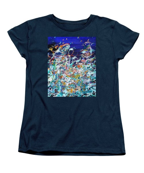 Women's T-Shirt (Standard Cut) featuring the painting Wishes by Fabrizio Cassetta
