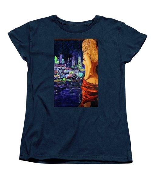 Wishful Thinking Women's T-Shirt (Standard Cut) by Karon Melillo DeVega