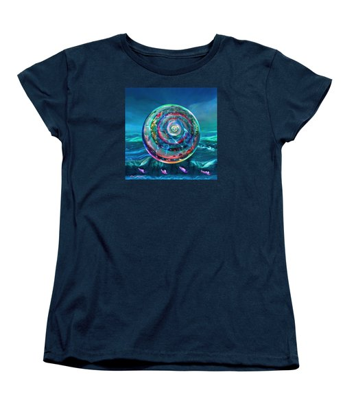Women's T-Shirt (Standard Cut) featuring the painting Withstanding Orby Weather by Robin Moline