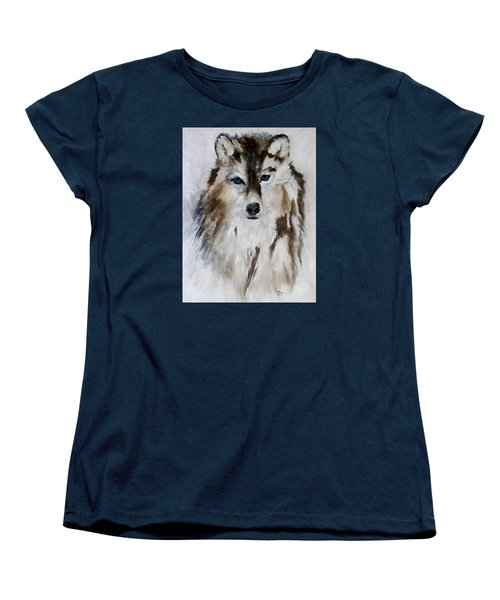 Wolf - Blue Star Women's T-Shirt (Standard Cut) by Barbie Batson