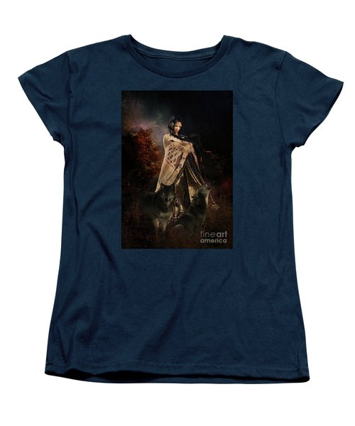 Wolf Song Women's T-Shirt (Standard Cut) by Shanina Conway