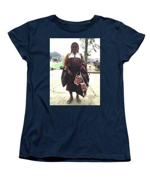 Woman In Chiapas. Women's T-Shirt (Standard Cut) by Shlomo Zangilevitch