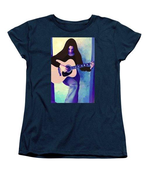 Woman Playing Guitar Women's T-Shirt (Standard Cut)