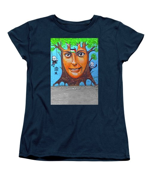 Women's T-Shirt (Standard Cut) featuring the photograph Woman Tree by Munir Alawi