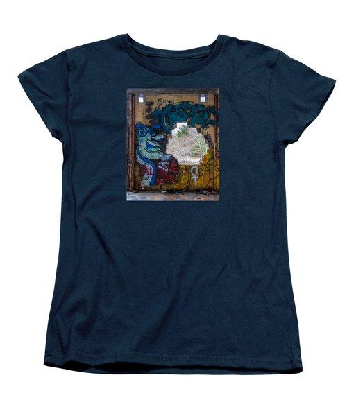 Wompatuck Graffiti Man Women's T-Shirt (Standard Cut) by Brian MacLean