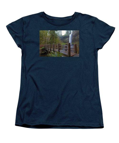 Wood Bridge At Silver Falls State Park Women's T-Shirt (Standard Fit)