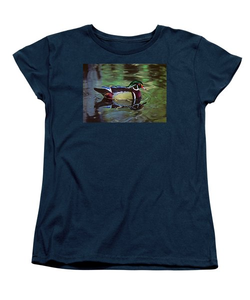 Women's T-Shirt (Standard Cut) featuring the photograph Wood Duck by Marie Hicks