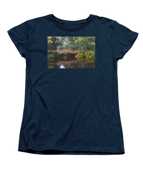 Women's T-Shirt (Standard Cut) featuring the photograph Wooden Bridge by Ari Salmela