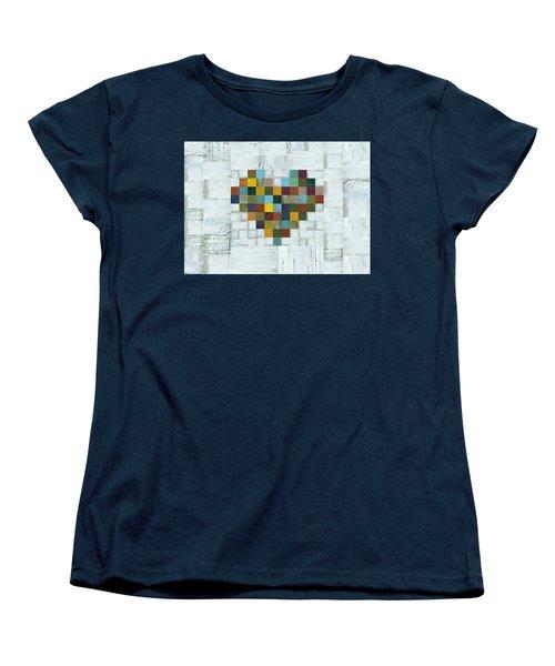 Wooden Heart 2.0 Women's T-Shirt (Standard Cut) by Michelle Calkins