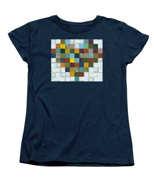 Women's T-Shirt (Standard Cut) featuring the digital art Wooden Heart by Michelle Calkins