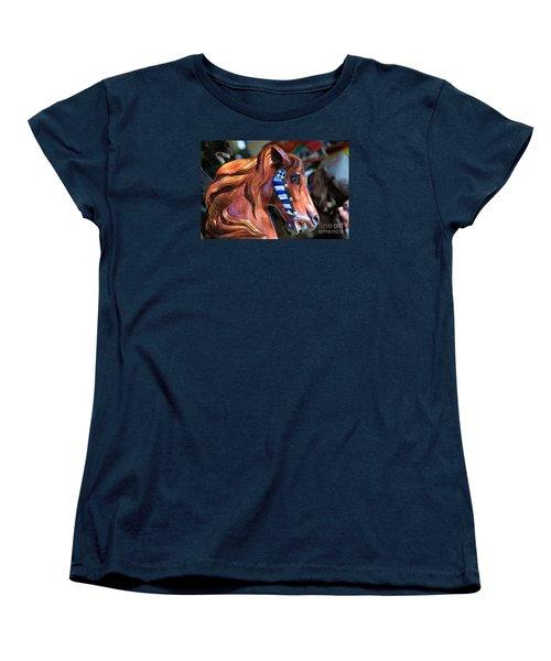 Wooden Horse Women's T-Shirt (Standard Cut) by John S