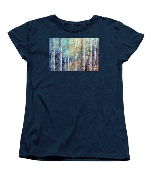 Women's T-Shirt (Standard Cut) featuring the painting Woodland Breezes by Tatiana Iliina