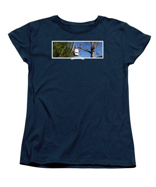 Woodland Tree Service Women's T-Shirt (Standard Cut) by Evergreenarborists