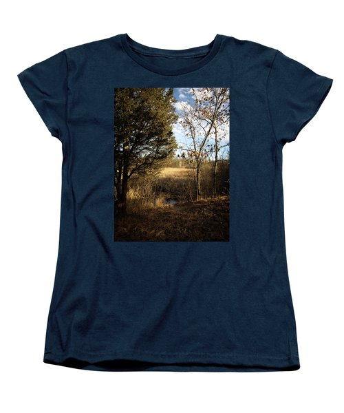 Women's T-Shirt (Standard Cut) featuring the photograph Woodland View  by Kimberly Mackowski