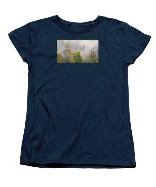 Woods From Afar Women's T-Shirt (Standard Cut) by Wanda Krack