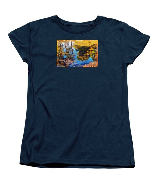 Women's T-Shirt (Standard Cut) featuring the photograph Woods In The Pond by Spyder Webb