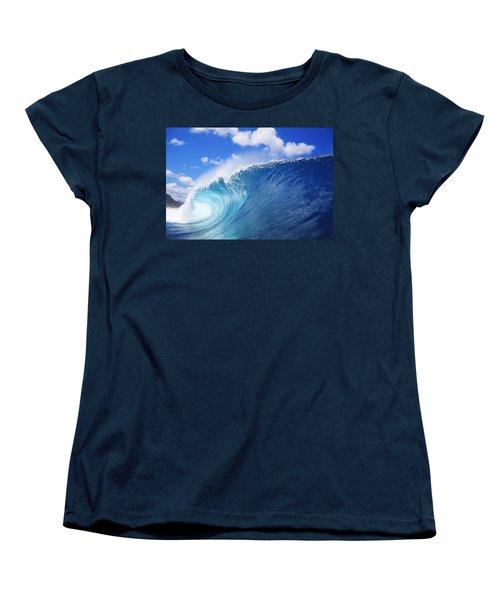 World Famous Pipeline Women's T-Shirt (Standard Cut) by Vince Cavataio - Printscapes