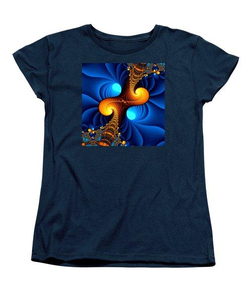 Wormhole Women's T-Shirt (Standard Cut) by Svetlana Nikolova