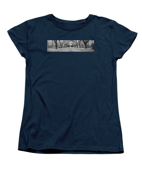 Women's T-Shirt (Standard Cut) featuring the photograph Wormsloe Pathway by Jon Glaser