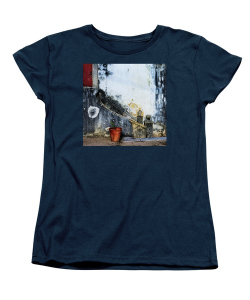 Women's T-Shirt (Standard Cut) featuring the photograph Worn Palace Stairs by Marion McCristall