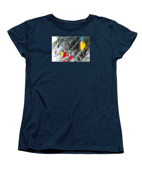 Women's T-Shirt (Standard Cut) featuring the photograph Wrap A Tree In Color by Lora Lee Chapman