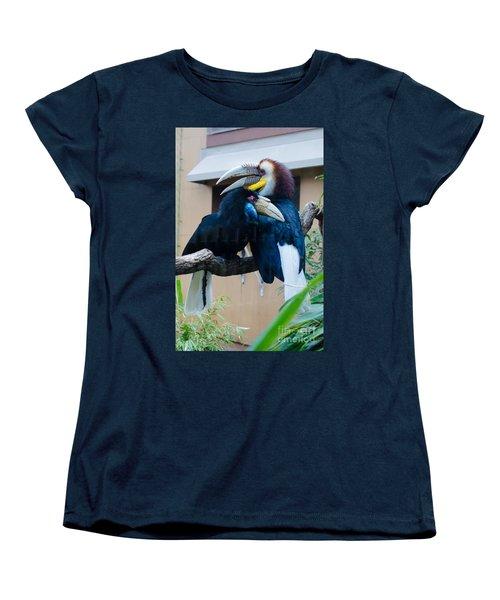 Wreathed Hornbills Women's T-Shirt (Standard Cut) by Donna Brown