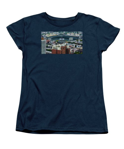 Wrigley Field Park Place Towers During The Day Dsc4743 Women's T-Shirt (Standard Cut) by Raymond Kunst