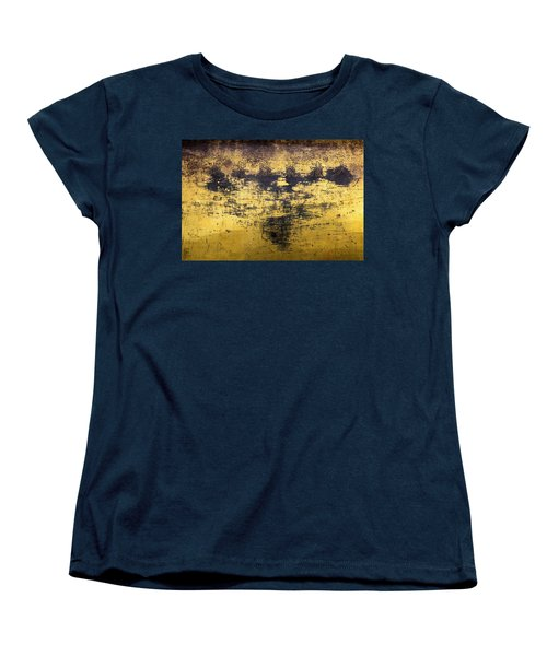 Women's T-Shirt (Standard Cut) featuring the photograph Writing On Metal, Beijing, 2016 by Hitendra SINKAR
