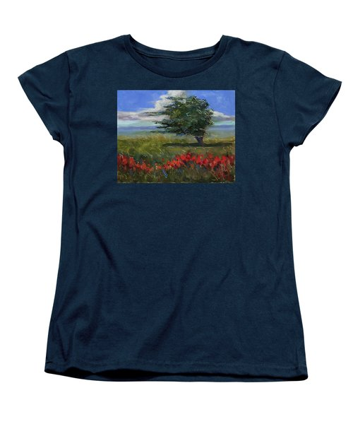 Women's T-Shirt (Standard Cut) featuring the painting Wyoming Gentle Breeze by Billie Colson